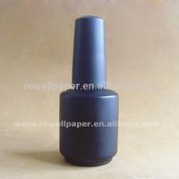 15ml round empty uv nail gel polish black bottles with gelish cap