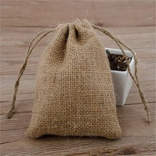 2014 Eco-friendly Jute Bag Wholesale, Jute Drawstring Bag/ Used Jute Bag Make in China