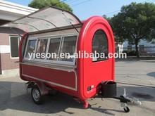 Yieson Hot Sale big wheels sliding windows electric mobile food cart/food trailer/food van