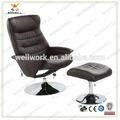 luxry workwell relajarse de cuero de la pu silla reclinable con con base de acero