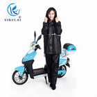 High-grade polyester material black reflective raincoat