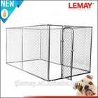 Large outdoor galvanized china link iron fence dog kennel (china factory)