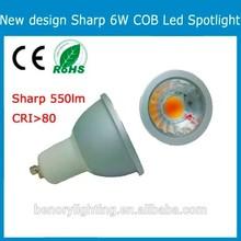 gu10 led spotlight 6w led gu10 led bulb 550lm sharp/epistar chip 3000k light led led lamp E14/E17/gu10/e27 led spotlight.