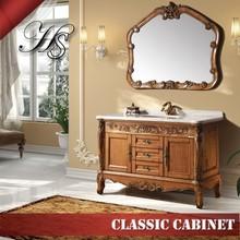 HS-CE1301 European style mirrored bathroom vanity storage