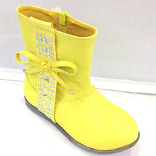 Latest High Quality PU Fashion Lovely Short Boots for Kids Girls
