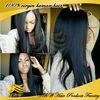 Hot sale yaki straight Human Hair Glueless full Lace Wigs, indian women hair wig