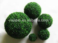 plastica arte topiaria impiccagione palla di legno di bosso palla erba artificiale per la decorazione del giardino
