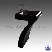 Black Pedestal Sink,bathroom design,modern design made in china