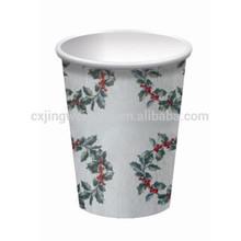 custom printed disposable paper Christmas tea cups