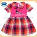 A nova criança por atacado novo estilo mão fazer bordados aniversário bebê menina vestido modelo com borboleta( h4810)