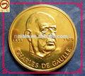 la costumbre de oro plateado presidente francés la recogida de la moneda de recuerdo