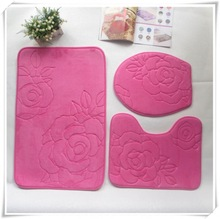 Fashion memory foam custom printed bedroom flooring mat/Memory foam bath mat_ Qinyi