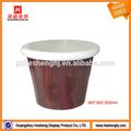 Loja de varejo pequeno banquinho de madeira redonda
