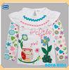 (F2155) 2-6Y Fancy owl applique long t shirt nova kids wear stock