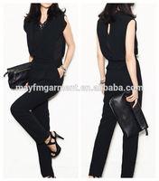 loose fit black jumpsuit for women 2014
