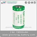 3.6v 19ah er34615 de litio batería de tionilo para silla de ruedas eléctrica
