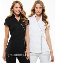 Fashion design 100% cotton beauty salon and spa uniform custom spa uniform