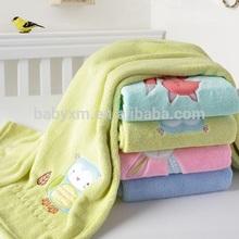 embroidery coral fleece baby blanket