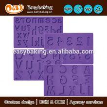 nova chegada de letras e números e fondant de pasta de goma de silicone do molde para diy