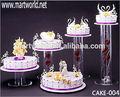 Venta caliente de la boda pastel acrílico stand para la decoración de la boda, de la boda pastel acrílico stand( torta- 004)