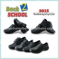 Hot black children boy school shoes action leather shoes