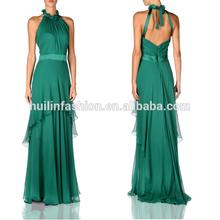 Elegant halter maxi dress evening dress online shopping emerald green evening dress