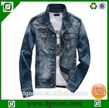 High quality new washed OEM service latest denim jackets designs for men monkey wash jeans denim jacket