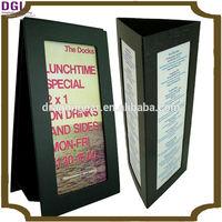 2 Side / Triangle restaurant menu display stand / restaurant menu card holder
