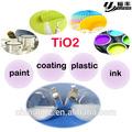dióxido de titânio revestido de alumínio para masterbatch da cor de pigmentos