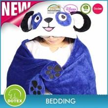 BSCI SEDEX Disney Audited manufacturer animal design baby wrap coral fleece