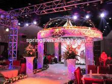 2015 morden design top quality crystal indian mandap wedding decoration
