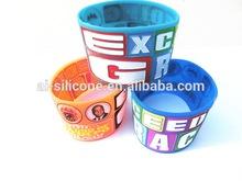 Fashionable Wide Rubber Bracelet With Various Colors/Designs