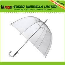 PVC Clear Dome Shaped Rain Transparent Vinyl Umbrella