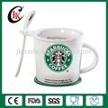 Gros tasse en céramique tasse de café starbucks starbucks, starbucks tasse avec couvercle et cuillère