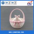 decoração de páscoa em cerâmica de armazenamento cestas