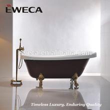 Claw Foot Red Bathtub, Indoor Bath Tub, Royal Bathtub