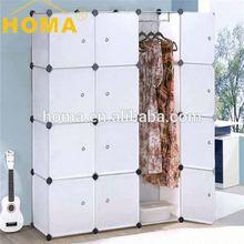 YIWU HOMA Cheap Commercial white wood wardrobe