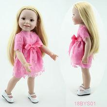 Newest design full body vinyl 18inch wigs doll american girl doll wigs doll