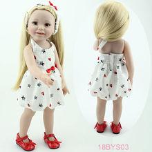 "Newest design lifelike pretty girl dolls Christmas birthday gift 18"" american girl doll"