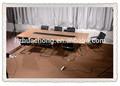 2014 mesa de conferencias HC-M013 diseño moderno, metal mesa de reuniones de madera con el poder, el cumplimiento de escritorio de la tabla