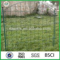 Powder coated metal garden fence