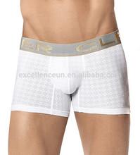 Fantastic plain white cotton mens underwear boxer briefs