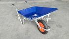 Aluminum blue wheel barrow