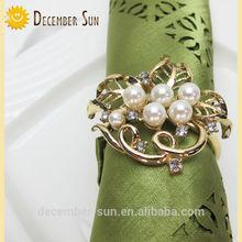 2015 hot sale fashion simple gold napkin ring designs