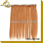 straight colorful remy clip in hair extension 220 grams