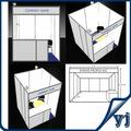 China stand de exposición diseño/equipo de la exposición 3x3 alquiler de stand con aluminio y mdf panel