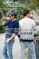 Peijiaxin2014การออกแบบแฟชั่นใหม่สไตล์ลำลองกวางรูปแบบv- คอผู้ชายถักเสื้อกันหนาว