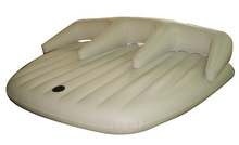 hot sale inflatable bed with pillow,three people used,for Sand bath