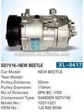 Auto A/C SANDEN SD7V16 Compressor for NEW VW BEETLE Parts