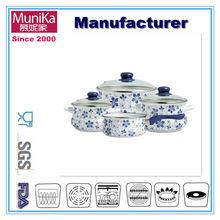 Soup pot porcelain enamel,Enamel enamel applique multi-purpose pot soup pot sauceboxes,Falconware Enamel Round Roaster